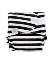 EH Newbie black stripes - novorozenecká látková plena