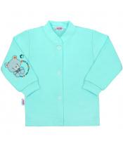 Kojenecký kabátek New Baby teddy tyrkysový