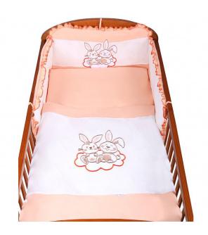 3-dílné ložní povlečení New Baby Bunnies 90/120 oranžové