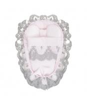 Hnízdečko s peřinkou pro miminko Belisima Belisima růžové