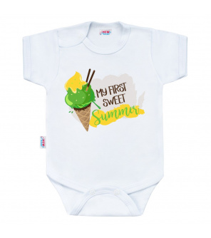 Body s potiskem New Baby MY FIRST SWEET Summer zelené