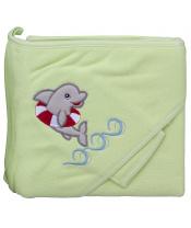 Scarlett Froté ručník - Scarlett delfín s kapucí - zelená