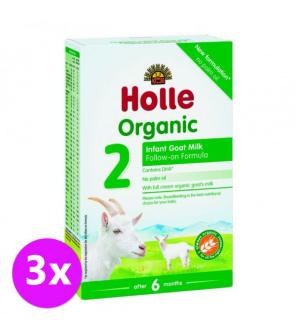 3 x HOLLE Bio Dětská mléčná výživa na bázi kozího mléka, pokračovací formule 2