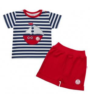 Kojenecká souprava tričko a kraťásky New Baby Marine