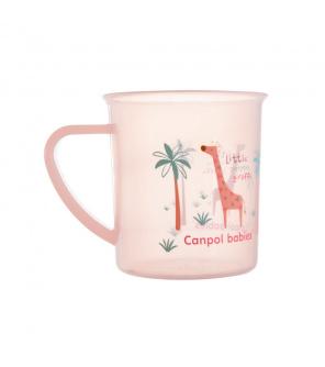 CANPOL BABIES Hrníček plastový Afrika 170 ml - růžový