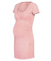 NOPPIES Košilka noční těhotenská krátký rukáv Suzy L Silver Pink