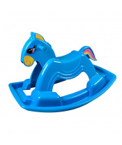 Houpací koník plastový BAYO 92 cm modrý