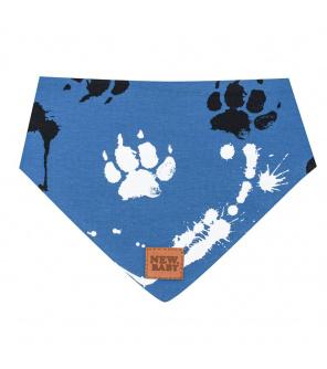 Kojenecký bavlněný šátek na krk New Baby Paw modrý S