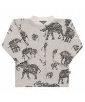 Kojenecký kabátek Baby Service Sloni šedý