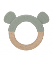 Lässig 4babies Teether Ring Wood/Silicone 2020 Little Chums