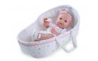 Nines 30400 Baby Recien Nacido CUNA plaváček  37cm holka s taškou