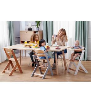 KINDERKRAFT Židlička jídelní Enock Grey wooden