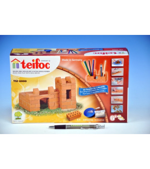Stavebnice Teifoc Pevnost Margarita 80ks v krabici 29x18x8cm