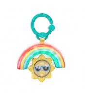 BRIGHT STARTS Hračka na C kroužku hudební a světelná Rainbow 3m +