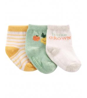 CARTER'S Ponožky Fruit neutrál LBB 3ks 0-3m, vel. 62