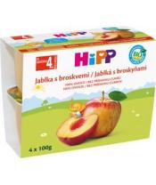 Příkrm ovocný BIO jablka s broskvemi 4x100g Hipp