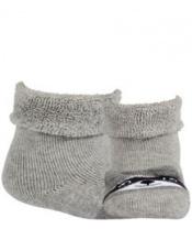 WOLA Ponožky kojenecké froté s oušky neutral Aluminium 15-17