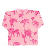 Kojenecký kabátek Baby Service Sloni růžový