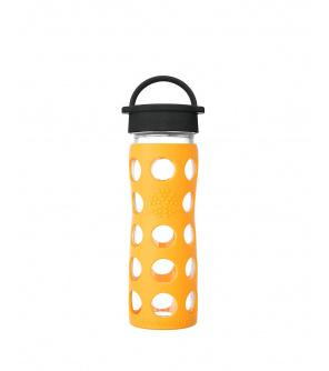 Lifefactory láhev s klasickým uzávěrem 475ml  marigold
