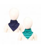 Manymonths oboustranný šátek merino Moonlight Blue
