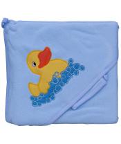 Scarlett Froté ručník - Scarlett kačenka s kapucí - modrá