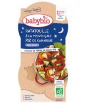2x BABYBIO Večerní menu ratatouille po provensálsku s rýží (200 g)