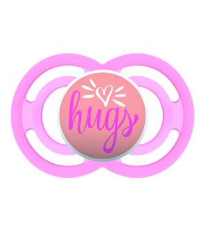 MAM Dudlík Perfect 16m+, silikon růžové srdce