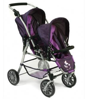 Bayer Chic Buggy Tandem Twinny  kočárek pro 2 panenky za sebou