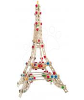 Eichhorn Dřevěná stavebnice Eiffelova věž Constructor Eiffel Tower Eichhorn 3 modely (Eiffelova věž, větrný mlýn, Vítězný oblouk) 315 dílů od 6 let
