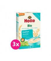 3x HOLLE Kaše nemléčná Bio z ovesných vloček 250 g