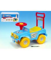 Odrážedlo auto modré 53,5x48,3x26cm nosnost 20kg v krabici od 12 do 35 měsíců