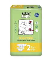 Plenky jednorázové 2 Mini 3-6kg 58ks Baby Muumi
