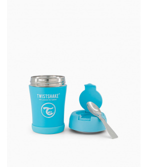 TWISTSHAKE Termoska na jídlo 350 ml pastelově modrá