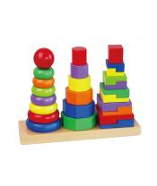 Dřevěné barevné pyramidy pro děti Viga