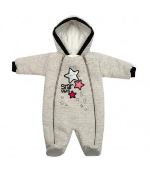 Zimní kojenecká kombinéza s kapucí Koala Star Vibes růžová