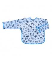 Dětský bryndák s rukávky Akuku modrý s míči