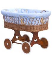 Scarlett Proutěný košík na miminko Scarlett Mráček  - modrá