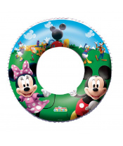BESTWAY Kruh nafukovací Disney Mickey Mouse a Minnie, průměr 56 cm