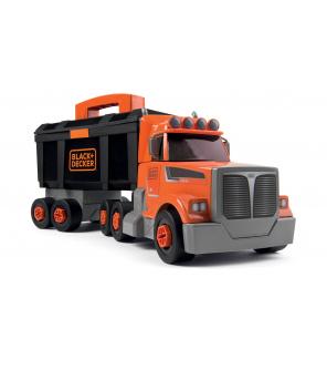 Smoby SM360175 Kamion s pracovním kufříkem Black&Decker Truck  a 60 doplňků s nářadím