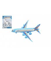Letadlo plast 14cm volný chod 2 barvy na kartě