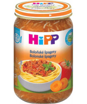 Příkrm zelenino-masový BIO Boloňské špagety 250g Hipp