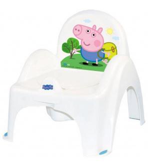 Hrající dětský nočník s poklopem Prasátko Peppa white-blue