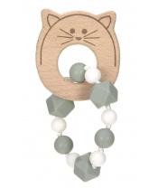 Lässig BABIES Teether Bracelet Wood/Silicone Little Chums