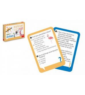 Kapesní kvízy junior - Zvířata cestovní společenská hra CZ verze v krabičce 14x10x2cm