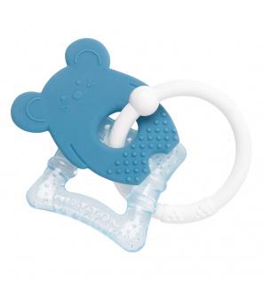 NATTOU Kousátko silikonové s chladící částí bez BPA modrá myška