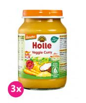 3x HOLLE Bio Organic Vegetariánské kari (6 m+), 190 g