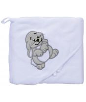 Scarlett Froté ručník - Scarlett zajíc s kapucí - bílá