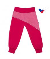 Softshellové kojenecké kalhoty New Baby růžové