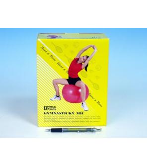Gymnastický míč 75cm rehabilitační relaxační v krabici 16x22cm