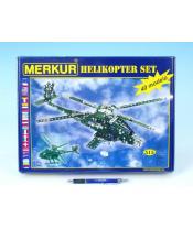 Stavebnice MERKUR Helikopter Set 40 modelů 515ks v krabici 36x27x5,5cm